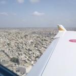 Anflug auf Karachi, der groessten Stadt, allerdings nicht Hauptstadt von Pakistan.