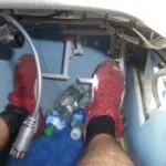 Trimmgewichte - der Flieger ist für den Autopiloten bei leeren Flügeltanks unteuerbar