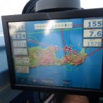Anflug auf Sitia mit heftigem Rückenwind