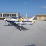 Meine Schwimmweste bereit zum Mittelmeerüberflug