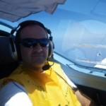 Das erste mal im Flieger über dem Mittelmeer eingeschlafen, Speedy Gonzales hat übernommen - so heißt der Autopilot, weil er viel schneller als ich ist.