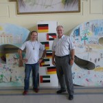 Helmuth Lehner and the director of the german international school