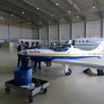 the aircraftcleaningcrew helped polishing the spirit of Africa