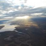 Abendsonne ueber den Salzseen inbound Ayers Rock