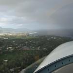 Anflug auf die 05 bei einsetzendem Regen und heftigem Seitenwind
