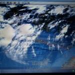 Die aktuelle Wetterkarte vom Flug Singapur nach Jakarta, kurz nach der Landung in der indonesischen Hauptstadt