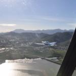 Fernsehflug mit Marcs Helikopter R44 und meinem Flieger fuer das NoumeaTV