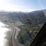 Fernsehflug mit Marcs Helikopter und meinem Flugzeug fuer einen Fernsehbeitrag im NoumeaTV ueber meine Reise