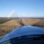Ich lande bei Sonnenuntergang in Kununurra