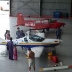 Im Hangar von Ismail