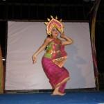 Indonesische Taenzerin auf Bali