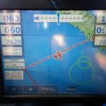 Leg 25 netter Rueckenwind mit 15 kmh stellte sich im letzten Teil des Fluges ein.
