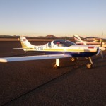 Mein Braver Flieger im Australischen Abendlicht