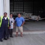 Mein Flieger  darf umgehend in den Hangar der lokalen Inter Island Fluggesellschaft und ist somit nicht dem permanenten Wind und dem Salzwasserspray ausgesetzt. Thanks to the Boss of Inter Island Air