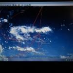 Mein bisher zuverlaessigster Wetterratgeber, das Satellitenbild auf Google Earth, alle 15 Minuten aktuell
