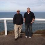 Meine Freunde weltumrunder Manfred Meloch, der extra wegen mir 10 Stunden mit dem Auto von Sydney raufgekommen ist, und Ken, die mir beide freundlicher Weise zwei Tage die Schoenheiten der Gold Coast gezeigt haben
