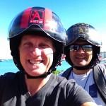 Mit dem Moped meines neuen Freundes Marc zum Schnorcheln im Riff