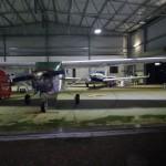 Sogar im Hangar von Kununurra darf meine Spirit of Africa ruhen