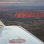 Spirit of Africa over Ayres Rock in Australia