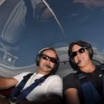 Zwei long distance Piloten im Cockpit einer Dynamic