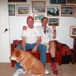 An der Wall of Fame in Earls Buero haengt das Bild von Hans Gutmann, bald sollte auch eines von mir dort haengen