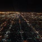 Anflug auf Los Angeles bei Nacht