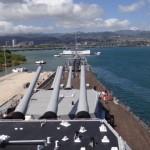 Auf dem Schlachtschiff Missouri worauf der Vertrag zur Beendigung des 2. WK unterzeichnet wurde.