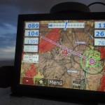 Das Flymap mit den Vektorkarten funktioniert hervorragend und zeigt den Anflug auf Albuquerque.