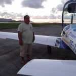 Denis Sene, der Besitzer von Inter Island Air und des Hangars, thanks for let my aircraft be in your hangar, Denis!