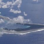 Die Landebahn aus Corallen auf Puka Puka, Cook Inseln