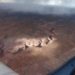 Die Rocky Mountains sind hier nur eine Hochebene in 7000 ft