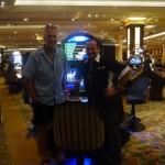 Ein kleines Earthroundermeeting in Las Vegas, Bob Gannon, der mit seiner C182 Lucky Lady Too 10 Jahre lang rund um die Welt geflogen ist und dabei ueber 150 Laender besucht hat und ich.
