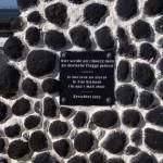 Erinnerung an die Landung der ersten Deutschen hier auf der Insel