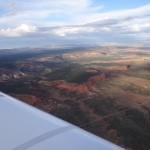 Richtung Albuquerque in New Mexico, Arizona bereits ueberflogen.