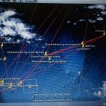 So sah dann das aktuelle Satellitenbild unmittelbar nach meiner Ankunft im Hotel Insel Fehmarn in Apia aus. Man beachte den leichten Grauschleier zwischen Samoa und Puka Puka, und dies war bereits so Hochreichend, was ist dann erst wenn es weiss ist?