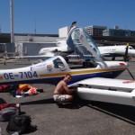 Spirit of Africa wird nach dem Cargoflug wieder flott gemacht, nach 2 Stunden war der Flieger wieder flott