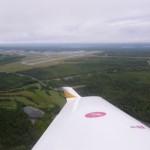 Abflug von Halifax, letzter Blick zurueck auf Nova Scotia