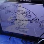 IFR DME ARC Anflug durch die Wolken auf St. Johns, das Ipad ist da wirklich eine grosse Hilfe