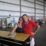 Mein Flieger darf wieder mal im Hangar der Firma FBO Esso stehen und wurde von Katarina liebevoll aufpoliert.