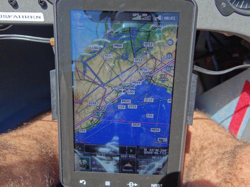 Ab hier sollte man immer vom direkten GPS Kurs abweichen und entlang der Autobahn zum Po fliegen, dann sollte man sicher bis zum Kanaltal oder Brennerpass kommen