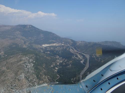 Der Grenzübergang von Frankreich zu Monacco