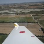Landung in Gragnano innerhalb der Militärkontrollzone von Piazenza. Ganz alleine, niemand da