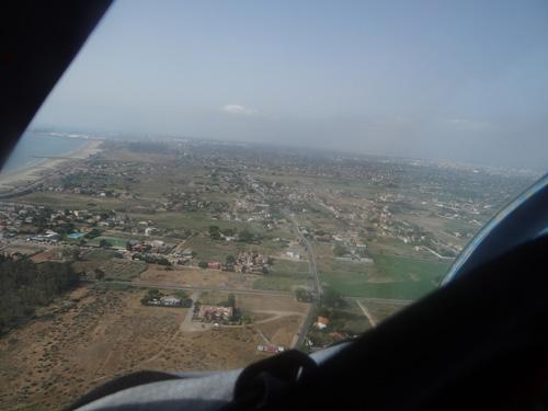 Letzter Blick zurück zu den Kameraden in Spanien, heute Morgen bei herrlichem Wetter, wolkenlos bis Italien