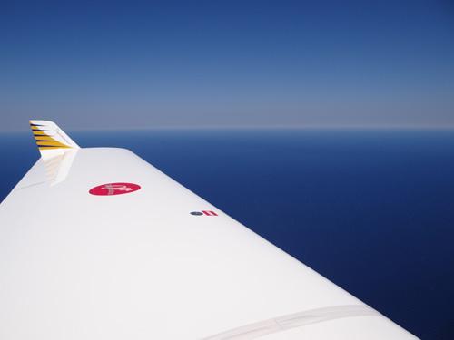 Mein letzter Flug übers Meer, kurz vor Barcelona gehts raus aufs Mittelmeer direkt nach Saint Tropez an der Cote Azur, meine letzten 120 nm von insgesamt über ca. 12.000 nm über Wasser