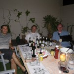 enjoyful barbeque by friends and german beer