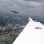 Rundflug mit Ismail Ashaari rund um die Petronastower