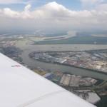 Der Containerhafen vor Malaysia
