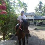 Pferdereiten auf Bali zum Strand, ruhig und gemaechlich.